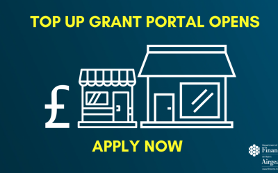 Finance Minister Announces Grant Portal Open for Business Top up Payments